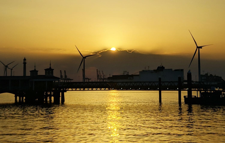 Gravesend Pier Sunset